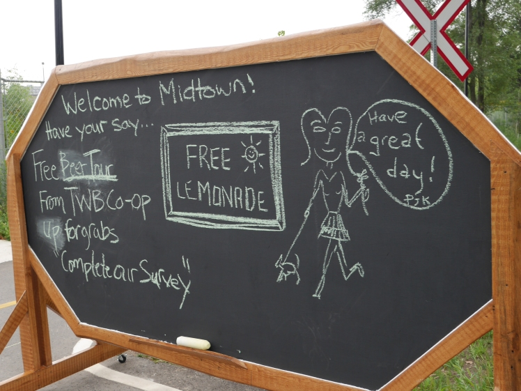 You can't resist writing on a chalkboard!