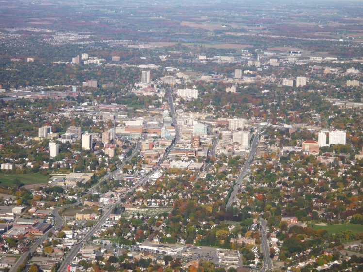 ariel photo of downtown kitchener