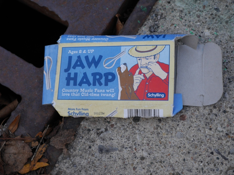 Jaw Harp packaging found on the street