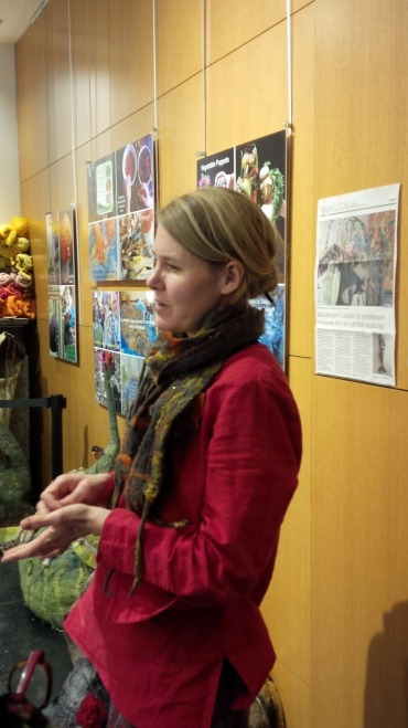 Sarah Granskou at Our Fibres, Our Forest Exhibit Opening