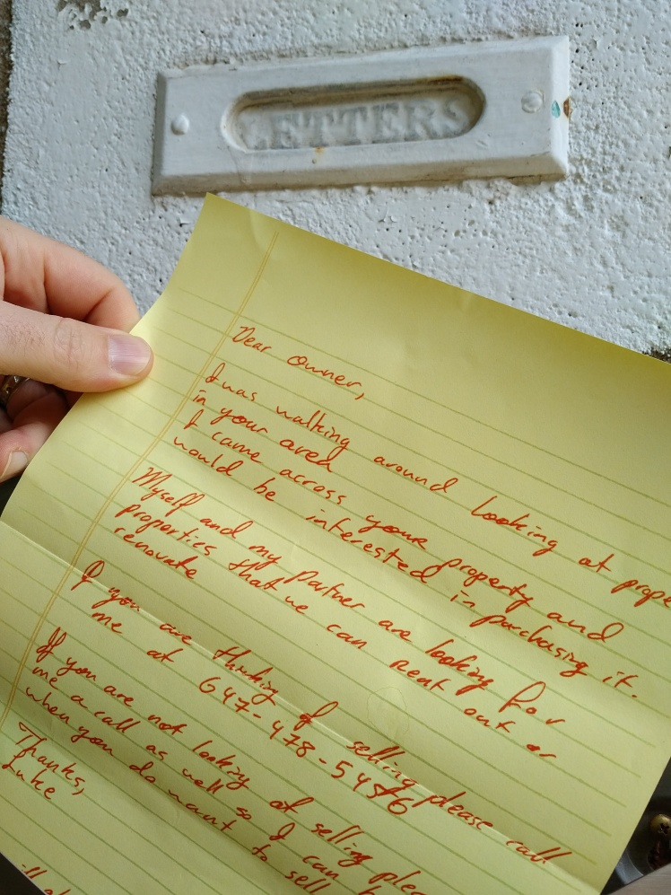 real estate letter received in mailboxes in midtown kw