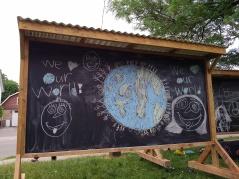 chalk art done by neighbourhood children