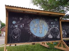 chalk art done by neighbourhood children