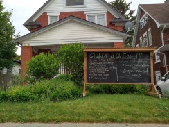 outdoor chalkboard at Shanley and Duke Street