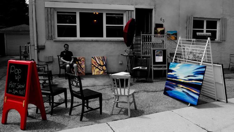 Greg Wilson and his Pop Up art show on DeKay Street