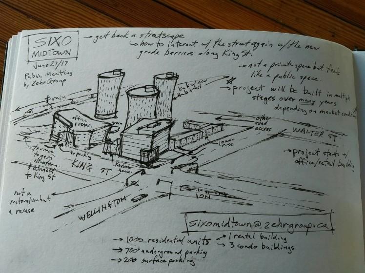 sketch of sixo midtown development