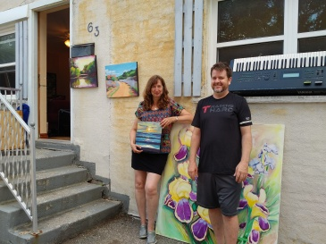 Greg Wilson hosted a pop-up art show with Sheila Diemert at his house on Dekay Street