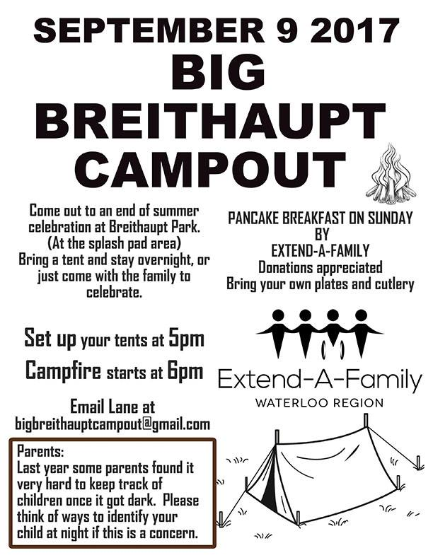 Poster announcing the Big Breithaupt Campout