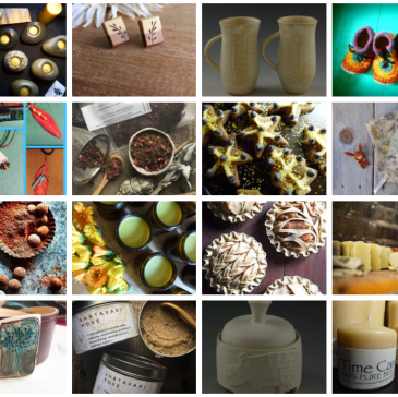 selection of Little City Farm vendors for their 10th annual holiday sale