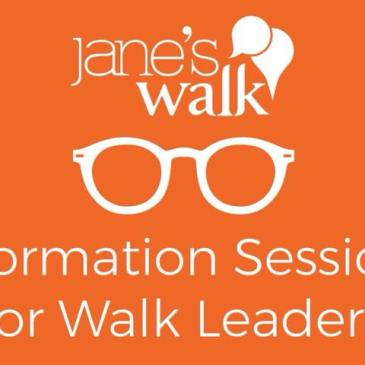 Jane's Walk Information Session for Walk Leaders