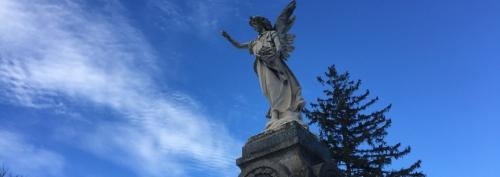 Zuber angel in Mount Hope Cemetery