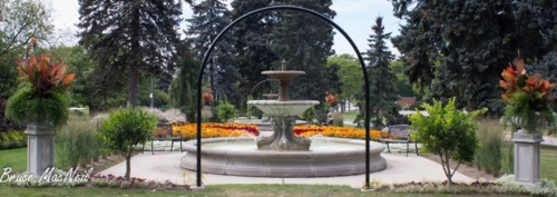 The Janzen Fountain at Rockway Gardens in Kitchener