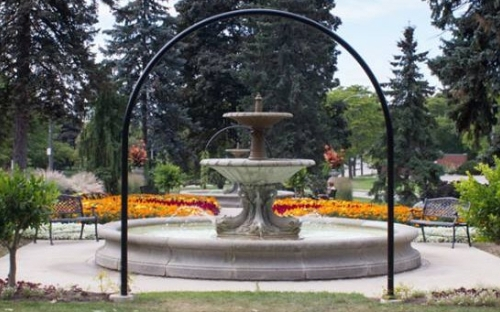 The Janzen Fountain at Rockway Gardens in Kitchener