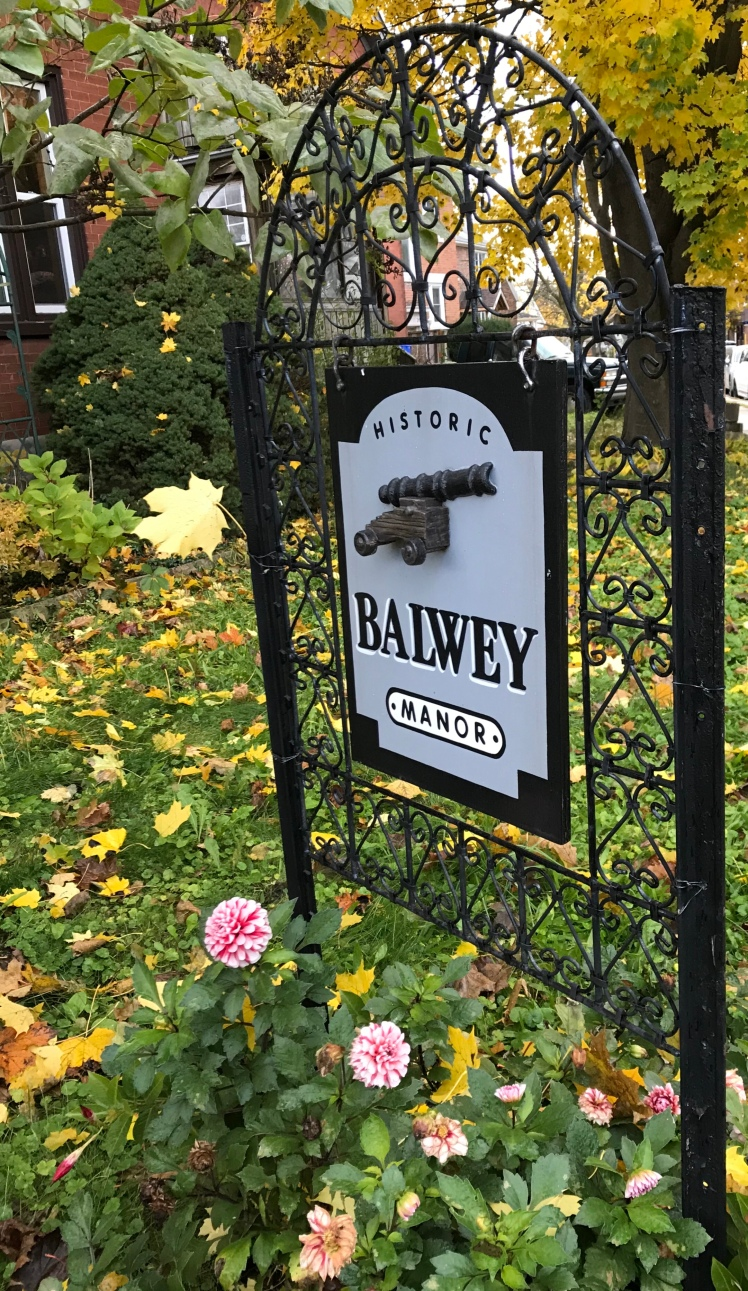 Balway Manor house sign in a Midtown Kitchener front yard