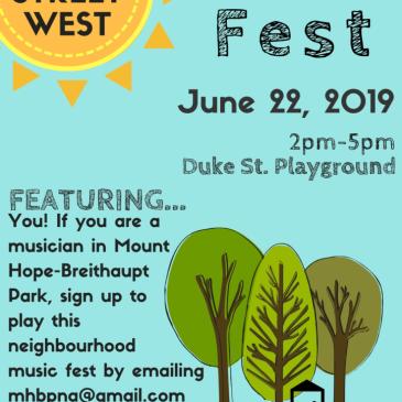 call for musicians for Duke Street Music Fest