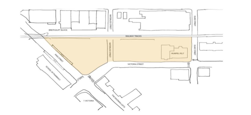 Map of King Victoria Transit Hub Kitchener